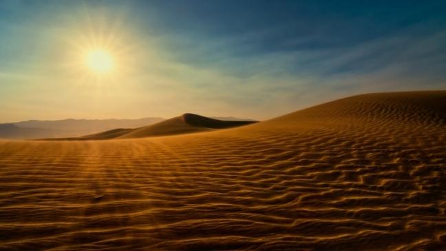 desert sunlight death valley