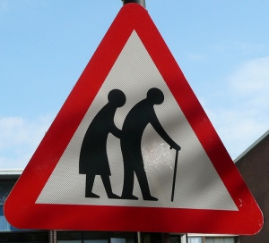 old age roadsign